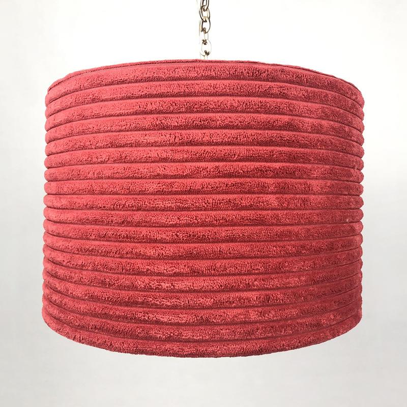 布艺吊灯罩加工 平绒条纹灯罩 欧式宫廷绒布酒店客房定做跨境