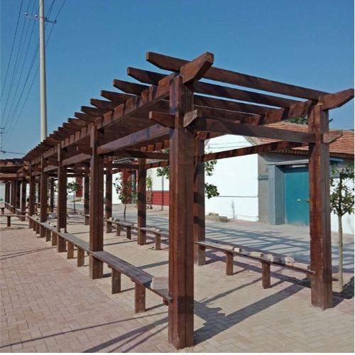 定制木结构葡萄架结构 定制木结构葡萄架公司 广润园艺