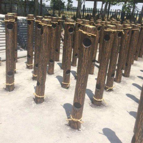 丽景建材 公园仿树皮木桩多少钱 市政仿树皮木桩哪家好