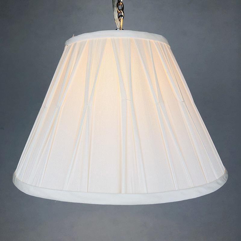 创意欧式宫廷布艺灯罩吊灯灯罩加工定制厂家客厅餐厅灯饰配件外壳