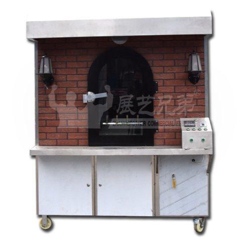 传统烤鸭挂炉批发 展艺兄弟 气碳两用旋转烤鸭挂炉直销