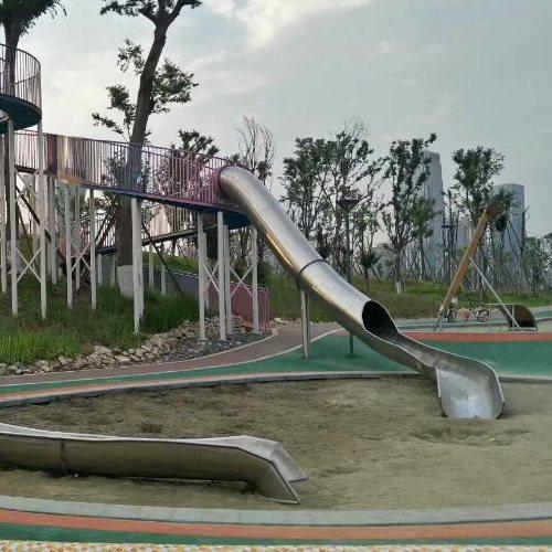 大型不锈钢滑梯订做 重庆美奇游乐设施 大型不锈钢滑梯费用