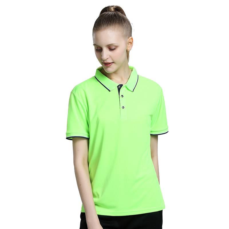 厂家定制速干翻领T恤吸湿排汗短袖T恤定制夏季提花碎花领T恤衫