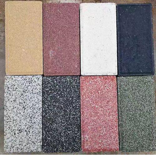 PC仿石生态透水砖定制 蜀通 陶瓷仿石生态透水砖铺设