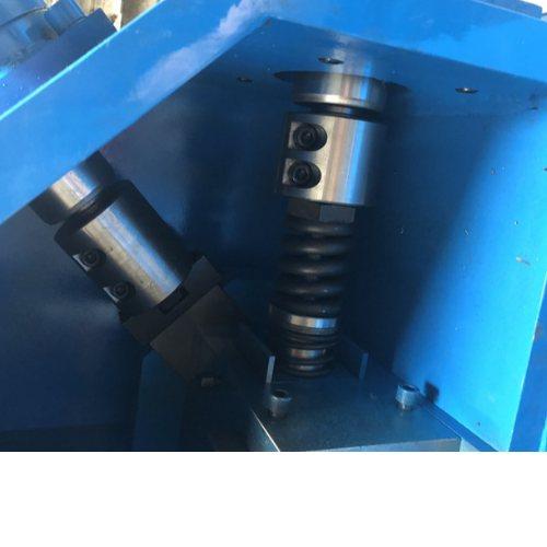 德州嘉迈机械 角钢法兰切断冲孔机不锈钢角铁法兰生产线
