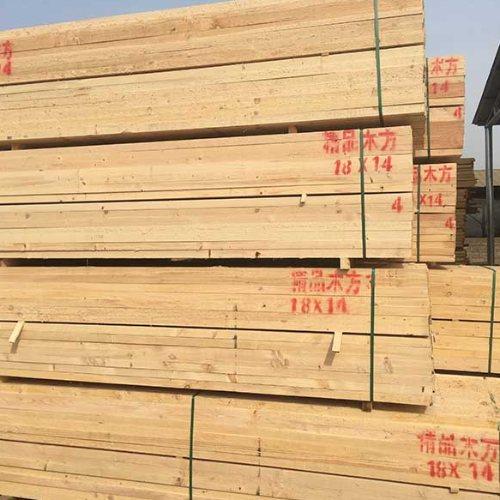 松木木方量大从优 不易劈裂木方供应商 旺源木业