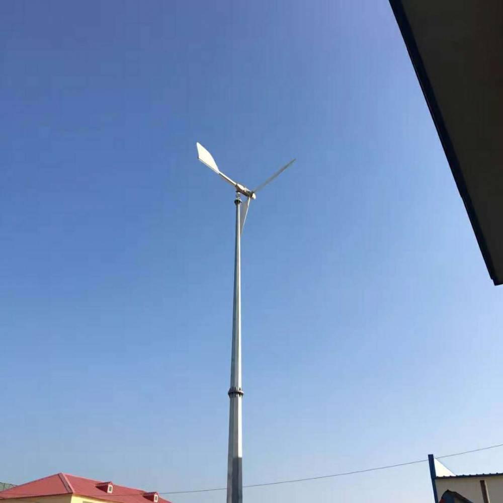 可以用手转动的低速发电机风光互补风力发电机5kw220v实拍视频