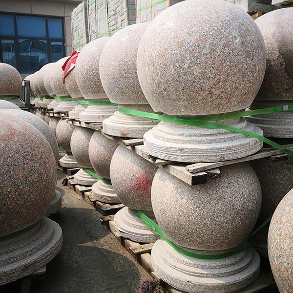 芝麻灰挡车球规格尺寸 五莲红挡车球规格尺寸 腾越石材