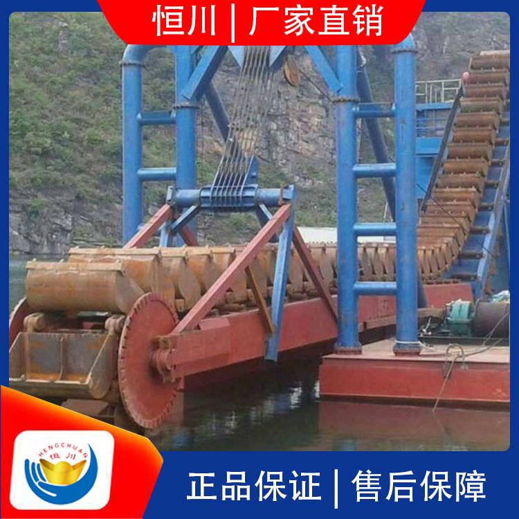 选金设备淘金船规格 HC/恒川 河道选金设备淘金船