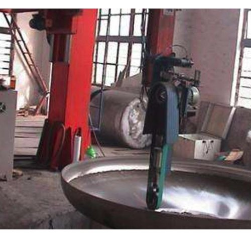 供应不锈钢封头砂带抛光机 不锈钢封头砂带抛光机 国轩机械