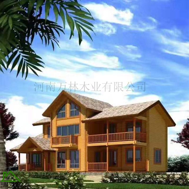 木屋别墅设计建造 木屋别墅 定做木屋别墅畅销全国 万林优质木屋