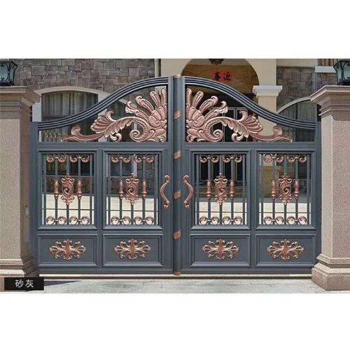 平轩铝艺庭院门规格 铝艺庭院门供应商 平轩金属