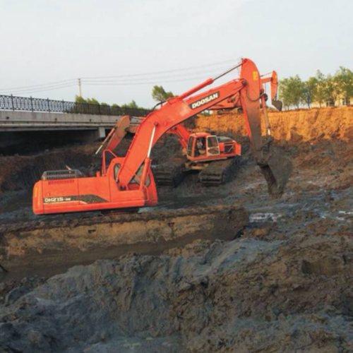 福州河流清淤水库清淤河道整治工程  厦门水陆两用挖掘机租赁