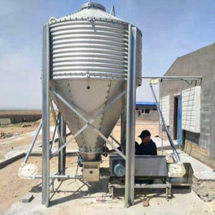 养猪场料线生产 德力 绞龙料线料塔 养殖数送料线塞盘