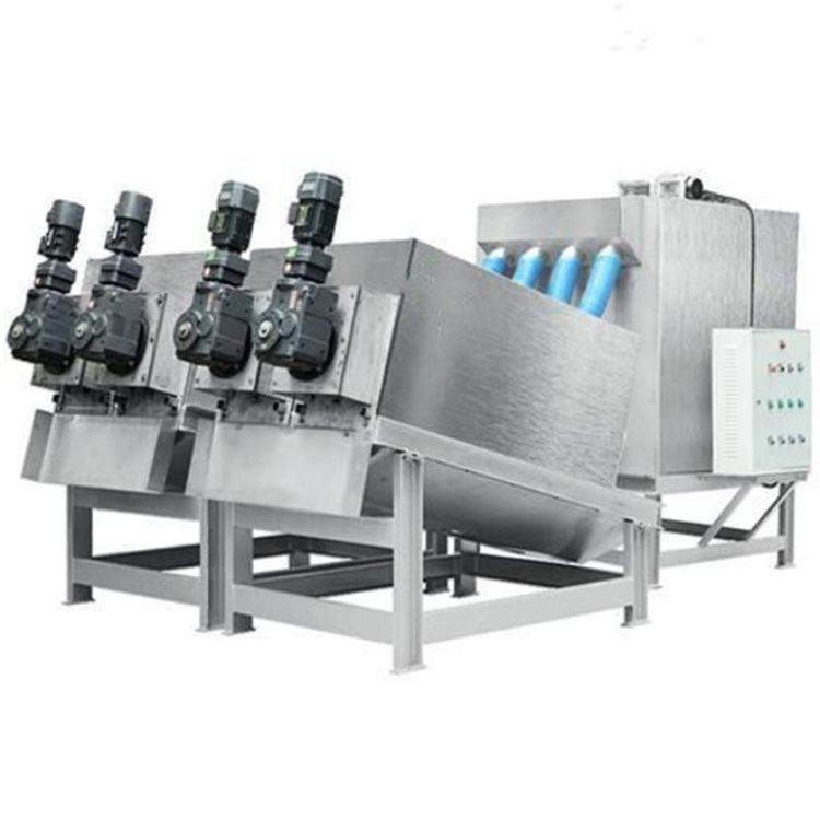 叠螺式污泥脱水机压滤机 鸿威 不锈钢叠螺式污泥脱水机压滤机