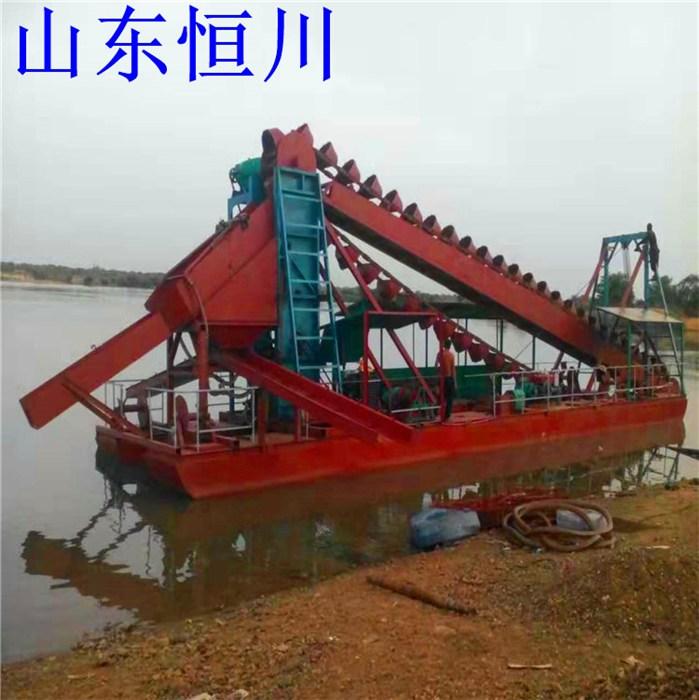 射吸式抽沙船型号 小型射吸式抽沙船尺寸 恒川