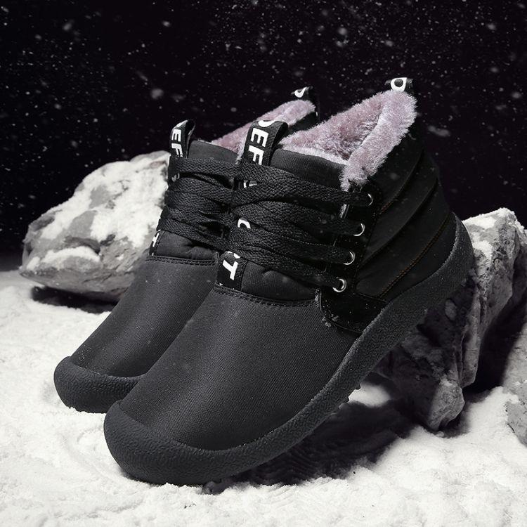 跨境冬季防水雪地靴男大码男士棉鞋加绒保暖短靴休闲男男鞋棉靴