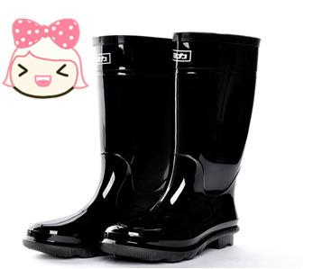 防滑防雨耐磨中高筒雨靴 PVC橡胶底胶鞋男女靴 防油劳保鞋