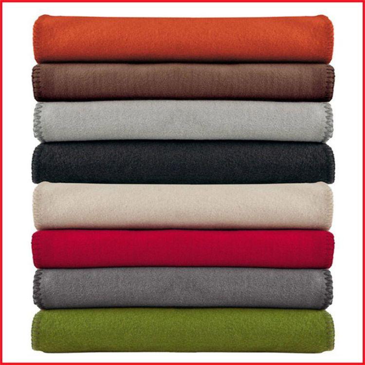 厂家直销双层珊瑚绒毛毯爆款1.5*2素色空调毯办公室午睡毯定制