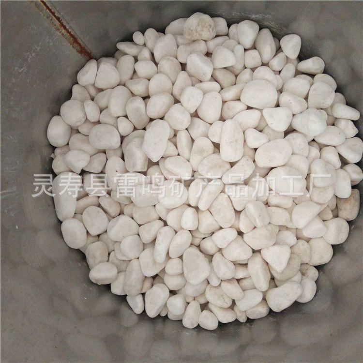 厂家直销小石头 白色鹅卵石 机制鹅卵石 微景观装饰用小石子