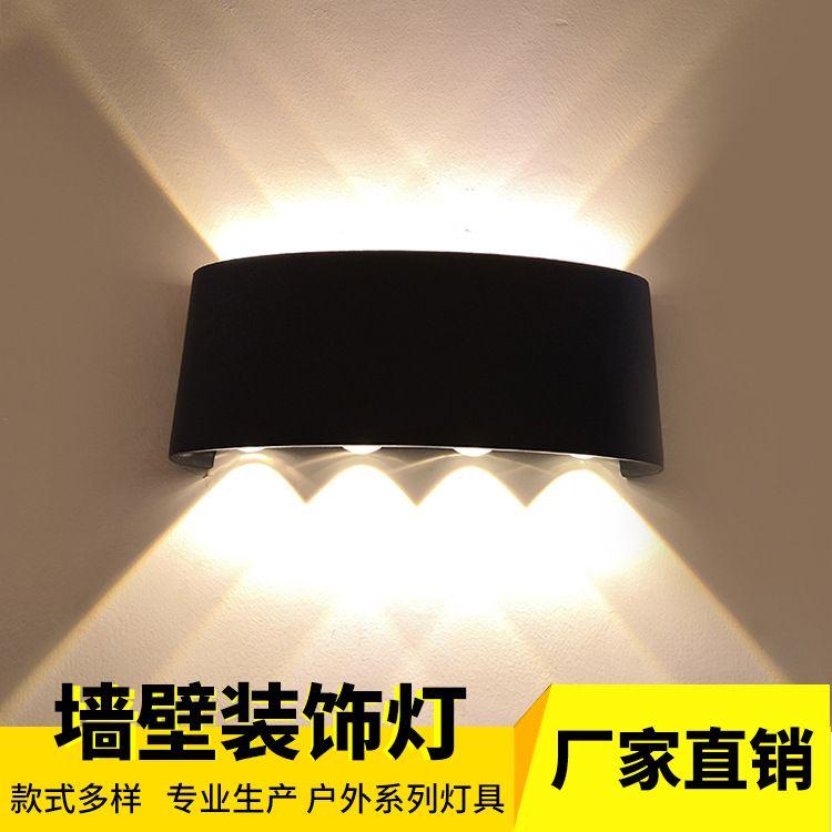 厂家直销LED壁灯背景装饰灯 现代简约 镜前灯过道楼梯背景铝材灯