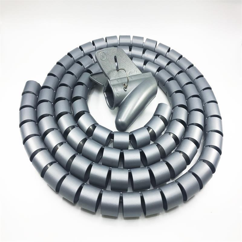 开口式包线管束线管缠绕管电线保护套电线护套塑胶护套理线管18mm