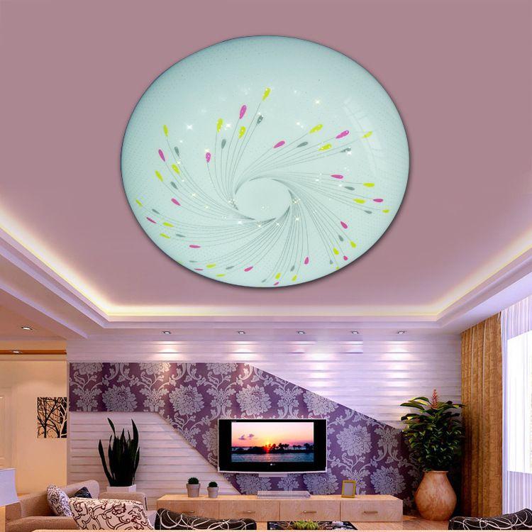 圆形亚克力led吸顶灯灯罩 创意简约客厅卧室灯透明烟花灯罩611