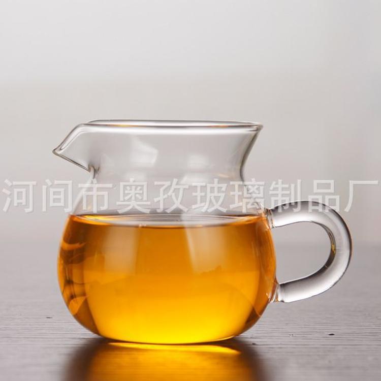 手工艺耐热玻璃公道杯茶道杯台湾大茶海透明耐高温玻璃分茶器