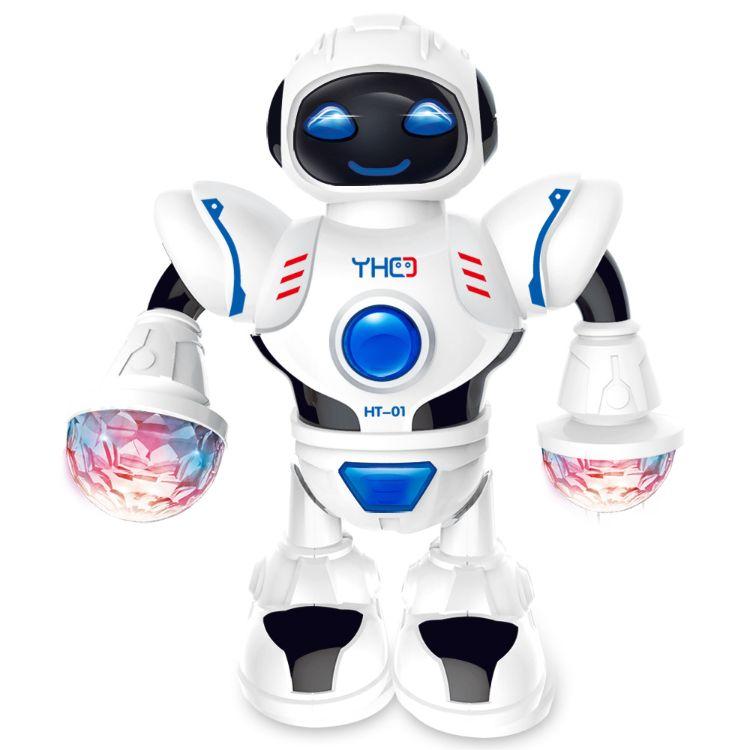 外贸益智电动机器人 带灯光音乐炫舞太空机器人儿童玩具一件代发