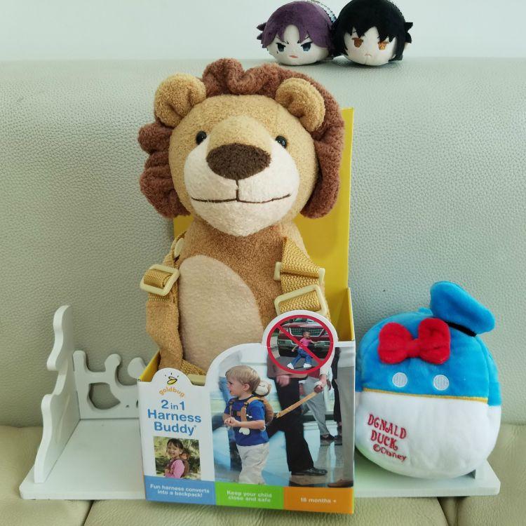 珍珠绒狮子防走失卡通儿童书包婴儿安全学步带牵引绳玩具箱包