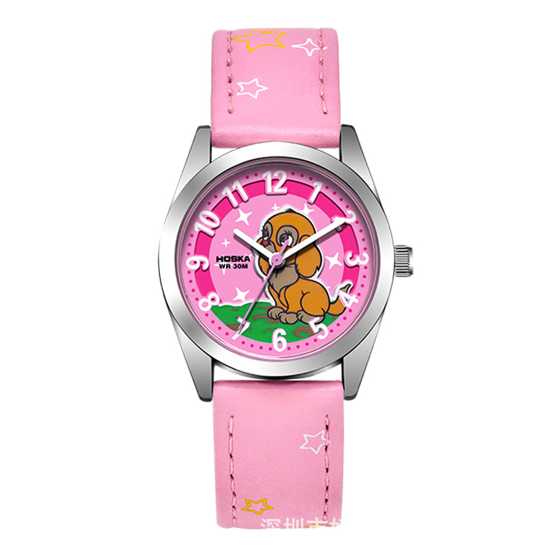 好时佳(HOSKA) H805S女孩儿童防水手表可爱女童学生电子手表