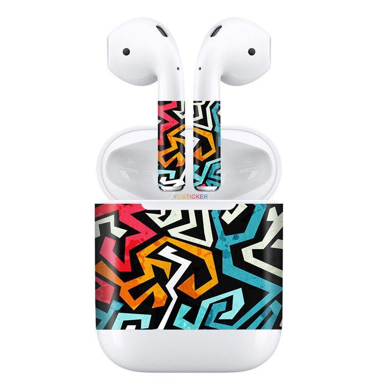 高端3M铸造级进口无限耳机Airpods贴纸创意耳机贴膜充电盒贴
