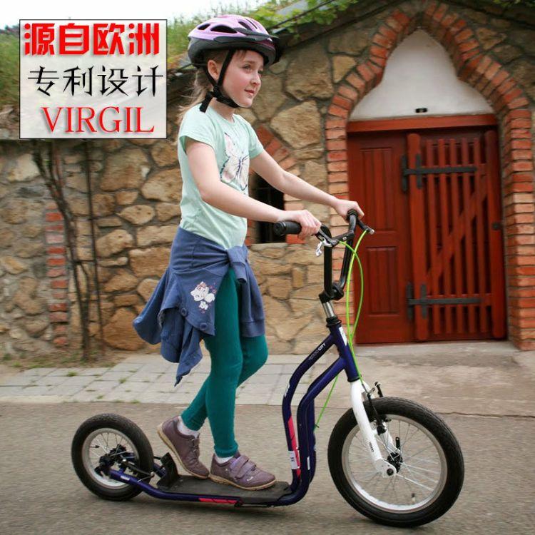 运动休闲青少年男女生代步成人可折叠滑板车减震充气大小两轮