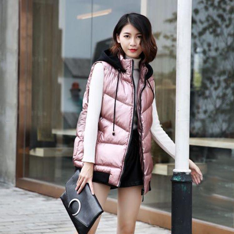 2018冬季新款韩版宽松显瘦胖MM大码女装百搭200斤潮流短款棉马甲