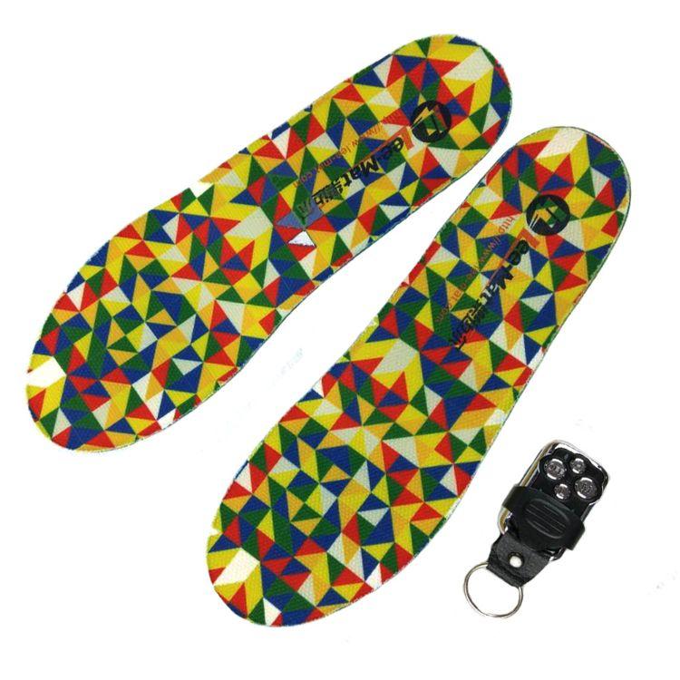 APP遥控电热发热鞋垫 锂电池加热充电电暖暖脚神器 电加热鞋垫