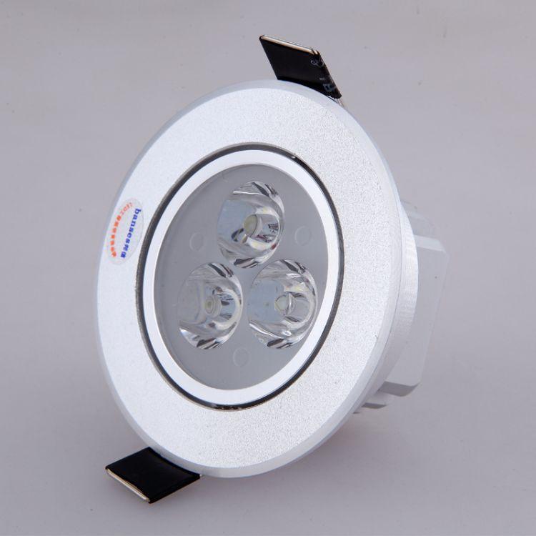 LED射灯3w全套天花灯客厅灯吊顶墙灯牛眼灯小射灯6.5-7.5公分筒灯