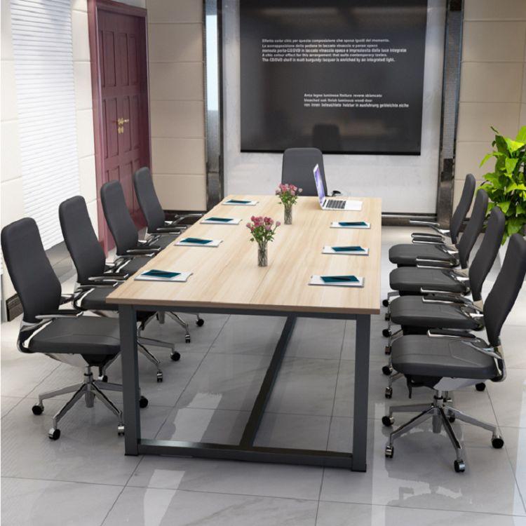 新款办公家具创意简约大班台定制会议桌职员办公桌洽谈桌热销批发