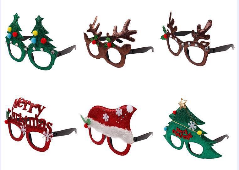 圣诞节饰品儿童圣诞眼镜礼物 小朋友派对聚会眼镜装扮用品圣诞