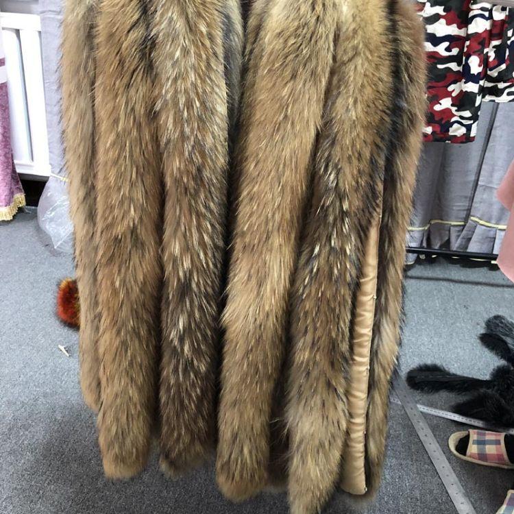 厂家直销 整皮貉子毛领子 真皮草彩色毛领帽条羽绒服毛条定做批发