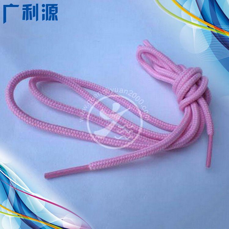 厂家直销优质粉色4mm宽圆形尼龙鞋带 个性新款高弹性松紧鞋带定制