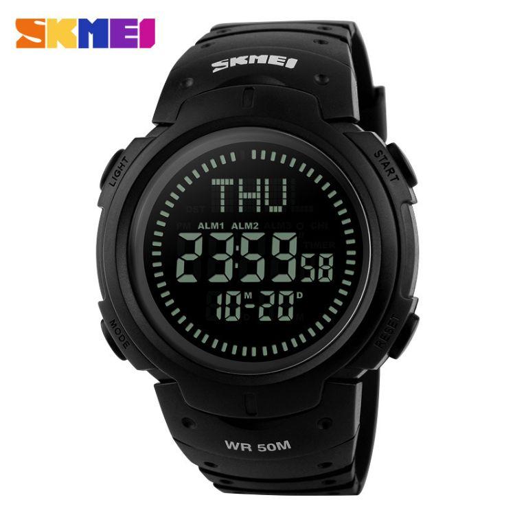 厂家直销爆款多功能运动学生电子手表指南针户外防水电子腕表