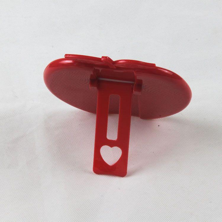 台式塑料镜子苹果型化妆镜单面镜珠光镜货源批发日用百货