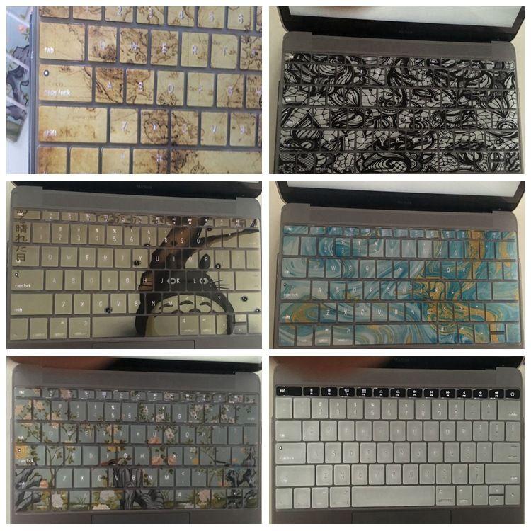 苹果笔记本电脑MacBook AIR/PRO 11 12 13 15 镭雕镂空键盘膜贴膜