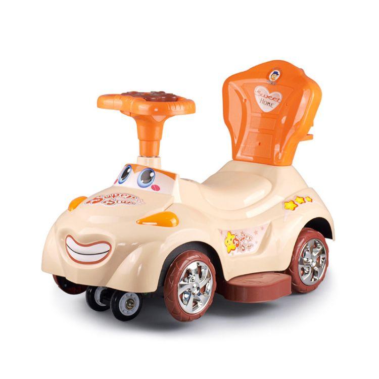 儿童四轮滑行车手推溜溜车乐逗音乐扭扭车三合一多功能玩具学步车