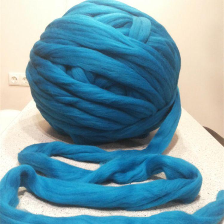 叮哥66s长套毛纯羊毛棒针粗毛线纯手工编织用多色羊毛线现货批发
