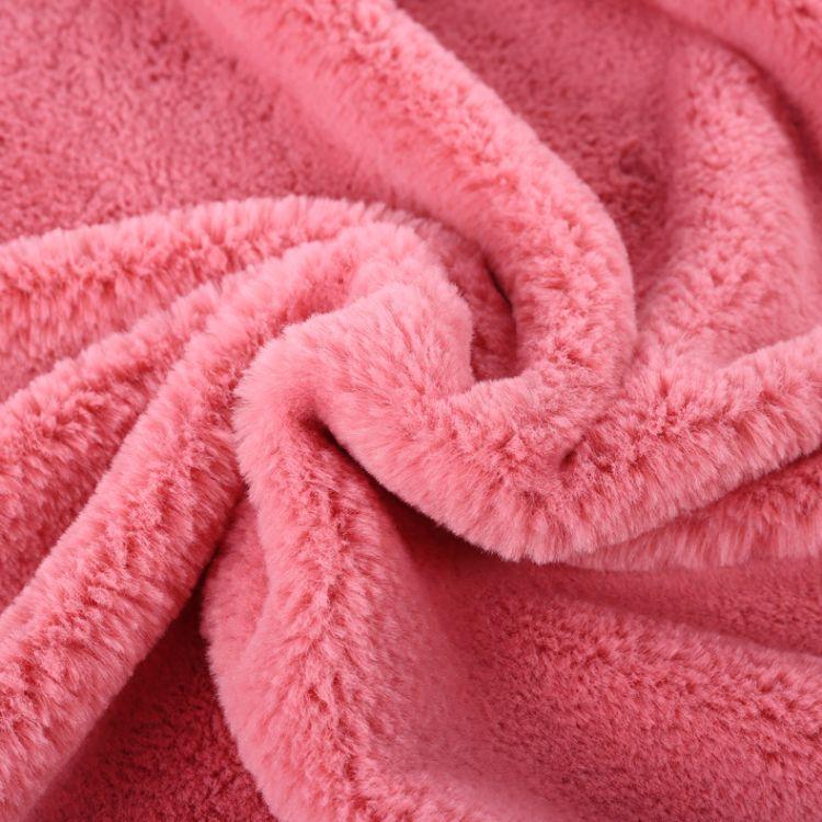 小兔毛染色 厂家直销纯色法兰绒 短长毛珊瑚绒 地毯地垫法兰绒
