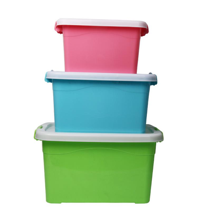 新款收纳箱小号整理箱收纳箱防尘储物箱整理箱塑料批发赠品货源