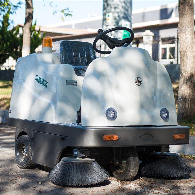 小林牌XLS-1350室内电动扫地车工厂底下停车场地面清扫保洁设备