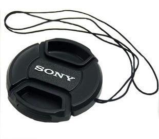一件代发 适用索尼镜头盖40.5 49 52 55MM微单相机中捏带绳子挂孔