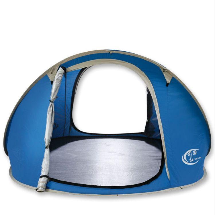 狼极户外帐篷  3-4人自动帐篷 野营露营野外 沙滩帐篷厂家直销